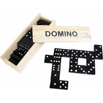 22-0633, Holz Dominospiel, in Holzschachtel