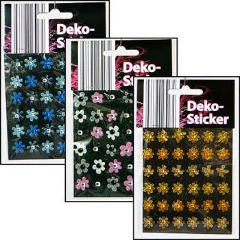 28-023339, Dekosticker Blume 36er Pack, Geschenkdekoration, usw