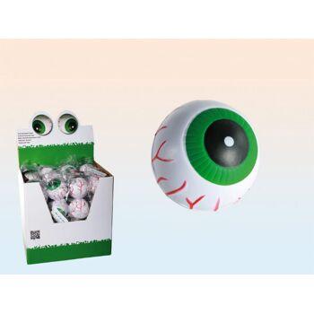12-120960, Soft-Springball Auge, 6 cm, Springball, Flummi, Wasserball, Spielball, Haus, Garten