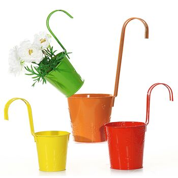 17-23161, Metall Übertopf zum Hängen, Blumentopf, Pflanztopf