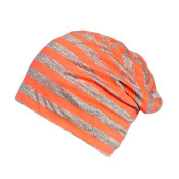 Beanie Mütze Streifen gestreift Sommer Trend Leichter Jersey Baumwolle