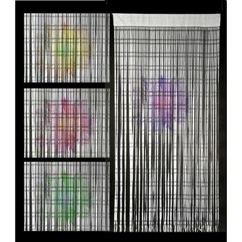 17-41618, Türvorhang 200 x 90 cm, mit Haken, bedruckt, Insektenschutz, Mückenschutz