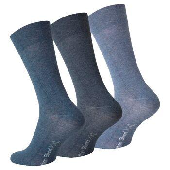 Herren XXL Baumwoll-Socken in Blautönen - Größe 47/50