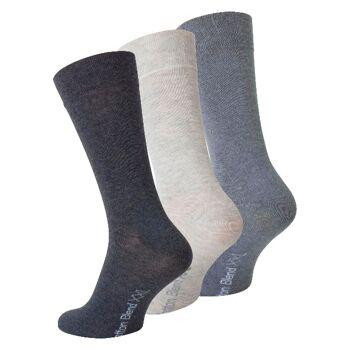 Herren XXL Baumwoll-Socken in Grautönen - Größe 47/50