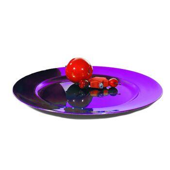 17-13277, Dekoteller, lila, 33 cm, Platzteller
