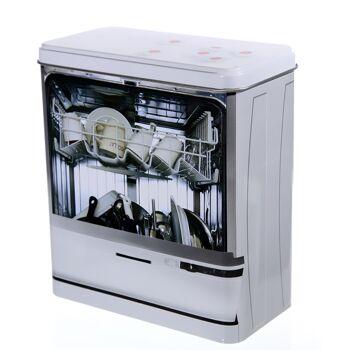 17-41004, Metall Aufbewahrungsdose für Spülmaschinen-Tabs, Spülmaschinentabs