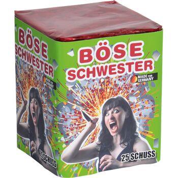 Böse Schwester 25-Schuss Batterie Lesli Feuerwerk
