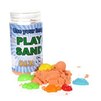 17-60609, Magischer Sand, 500g Dose, inkl. 6 Förmchen, Sandspielzeug