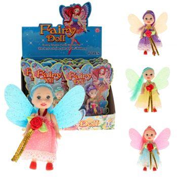 10-520050, Mode Puppe 19 cm, Spielpuppe Fee mit Flügeln, Puppe Fairy / Fee