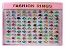27-40090, modische Kinder Glitzerringe, Fashionringe, Mettall, verstellbar, Modeschmuck