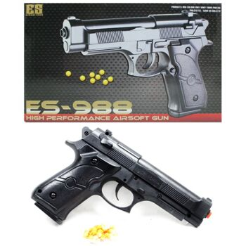 27-60283, Softair Pistole, Kugelpistole mit Magazin und Munition