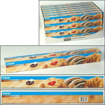 28-663841, Backpapierzuschnitte 20er Pack, beidseitig beschichtet, hitzebeständig bis 220°C, mikrowellengeeignet, mehrfach verwendbar