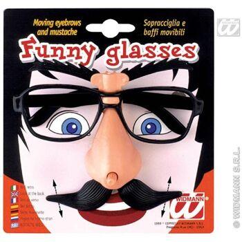 27-45850, Scherzbrille mit beweglichen Augenbrauen und Bart