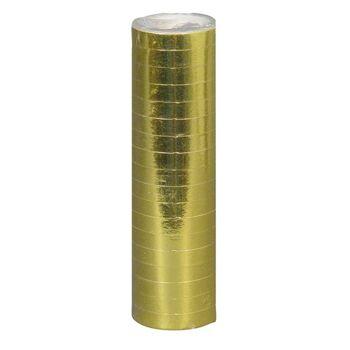 27-42635, Luftschlangen gold 400 cm, zur Deko bei Jubiläen, Parties, Geburtstagen, Hochzeit, Event, usw.
