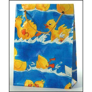 28-389812, Geschenktasche 22 x 16 cm, Entchen, Geschenktaschen mit Bodenverstärkung