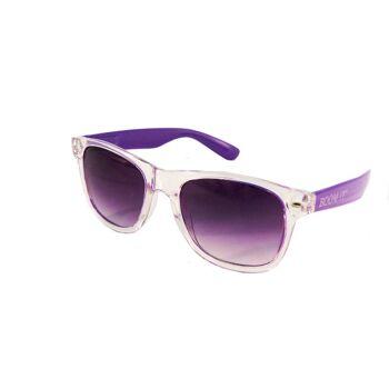 Sonnenbrille Ausgelassen, Transparent, Kunststoff