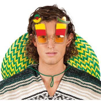 27-45986, Partybrille Mexico Tequila Sunrise, Sonnenbrille UV 400 Schutz, Event, Fete, Party, usw