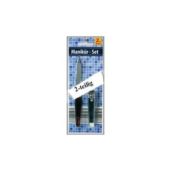 12-018663, Manikürset 2-teilig, Nagelfeile und Nagelknipser