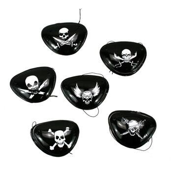 27-40046, Piraten Augenklappe, tolle Totenkopfmotive Party, Event, usw