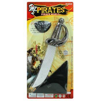 27-44410, Piratenset mit Schwert, Bandana, Kette, 3 Münzen, Augenklappe+++++++
