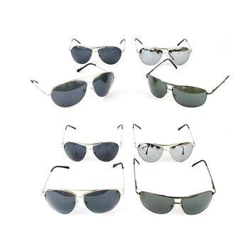 Sonnenbrillen Piloten Style Metallgestell Sunglasses Sonnen Unisex Brille Pornobrille UV-Schutz nur 2,19 Euro
