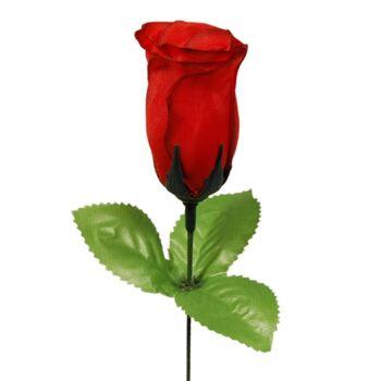 10-507030, Heckenrose nur rot, Kunstblume, Stoffblume, Motopartys, Hochzeiten, Valentinstag, Muttertag