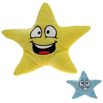 10-100110, Plüsch Sterne mit Gesicht, 25 cm