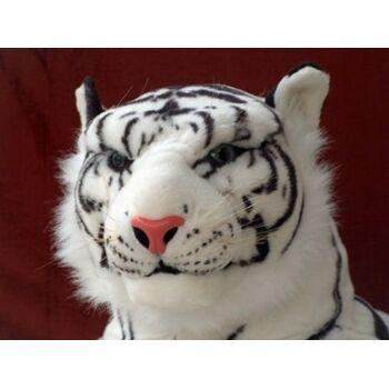 10-122010, XXXL Tiger, 210 cm, weiss, liegender Plüschtiger, Deko, Kuscheltier, Spieltier, Zootier, Wildtier