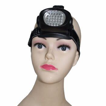 28 LED Lampen Kopfleuchte Kopflampe Stirnlampe Fahrrad
