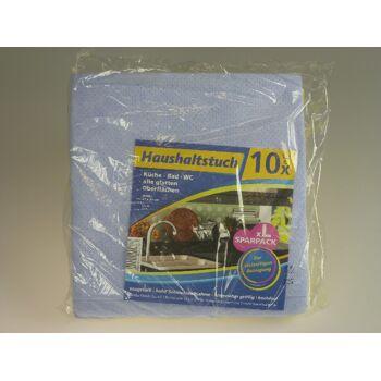 12-20780050, Haushaltstuch 10er Pack, 33 x 35 cm, Allzwecktuch, Putztuch, Reinigungstuch, Für Küche, Bad, WC, SONDERPOSTEN