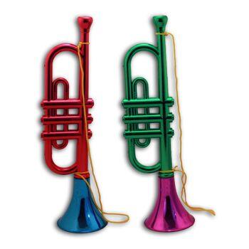 27-62125, Trompete 2-farbig metallic 33 cm