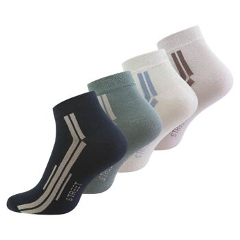 Vincent Creation® Herren Baumwoll-Sneakersocken