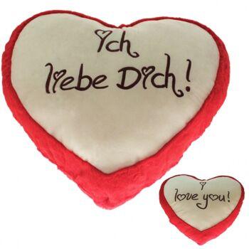 10-124350, RIESEN Plüsch Herz 85 x 75 cm, Plüscherz mit Bestickung