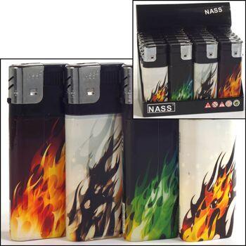 28-310020, Feuerzeug XXL, Fractal Flames, elektronisch