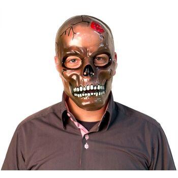 27-52359, Schädel Maske transparent, Totenkopf, Party, Karneval, Fasching, Halloween, Event, usw