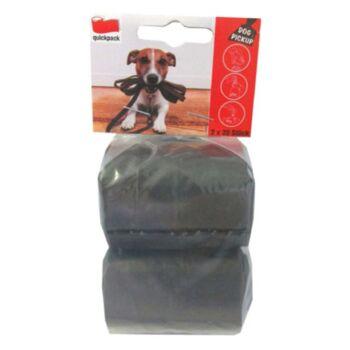 12-412300, Hundekotbeutel 2x20er auf Rolle schwarz, Hundehaufen Tüten