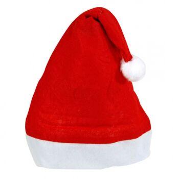 Weihnachtsmütze mit Bommel, Nikolausmütze, Filzmütze, Weihnachtsmannmütze
