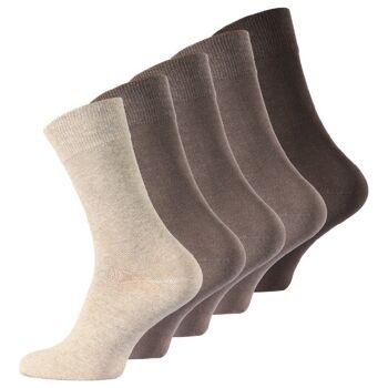 TOPSELLER - Herren Business Socken in Brauntönen