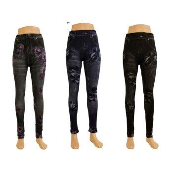 Damen Leggings Hose Damenleggings Leggins in versch. Farben Winterleggings nur 2,90 Euro