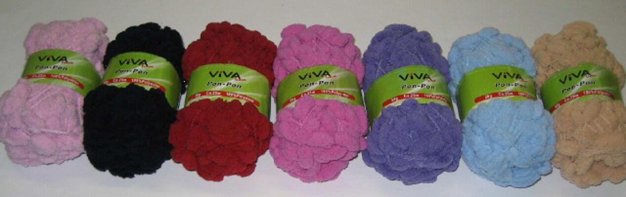 12-90007, Wolle Spezial Ponpon 50g ca. 25m Bommelchengarn