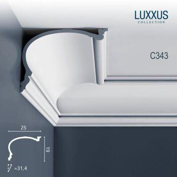 Orac Decor C343 LUXXUS 1 Karton SET 6 Stuckleisten | 12 m