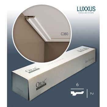 Orac Decor C360 LUXXUS 1 Karton SET mit 22 Stuckleisten | 44 m