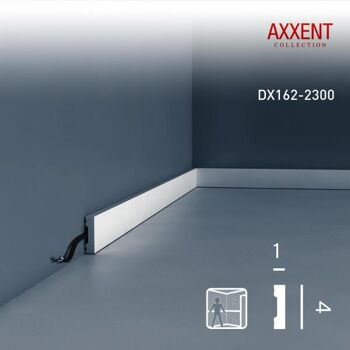 Orac Decor DX162-2300 AXXENT 1 Karton SET mit 55 Türumrandungen Wandleisten | 126,5 m