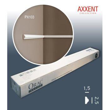 Orac Decor PX103 AXXENT 1 Karton SET mit 49 Wandleisten Zierleisten | 98 m