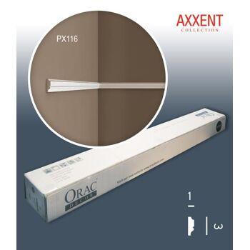 Orac Decor PX116 AXXENT 1 Karton SET mit 45 Wandleisten Zierleisten | 90 m
