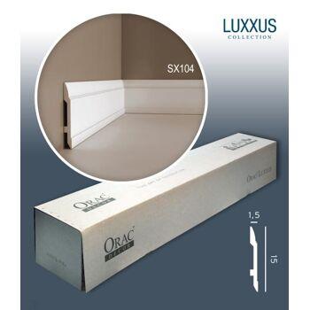 Orac Decor SX104 LUXXUS 1 Karton SET mit 17 Sockelleisten Profilleisten | 34 m