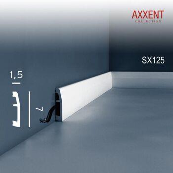 Orac Decor SX125 AXXENT 1 Karton SET mit 36 Sockelleisten Profilleisten | 72 m