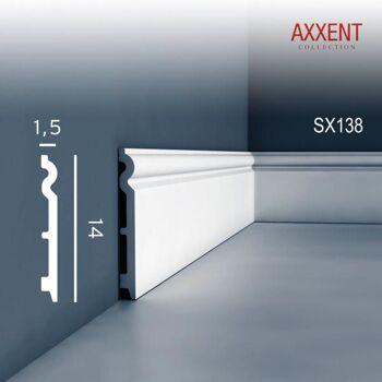 Orac Decor SX138 AXXENT 1 Karton SET mit 18 Sockelleisten Profilleisten | 36 m