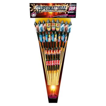 Supernatural / Shockwave 30-tlg WECO Raketen-Sortiment f Silvester Feuerwerk