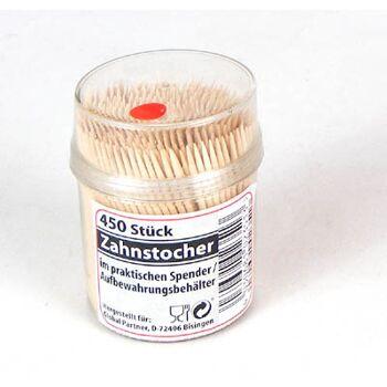 12-1102351, Holz Zahnstocher 450er Pack in Klarsichtdose